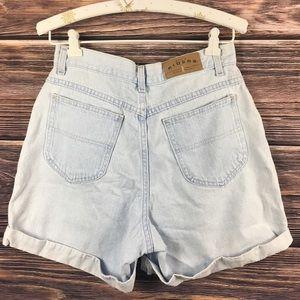 Lee Shorts - Vintage Highwasted Denim Jean CutOff Cuffed Shorts